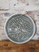 Load image into Gallery viewer, Tree of life terracotta plaque silver