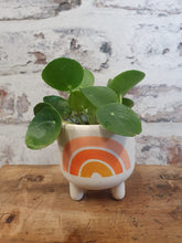Load image into Gallery viewer, Sass and Belle mini rainbow planter on legs - indoor plant pot