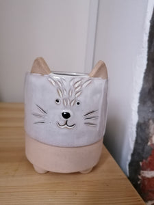 Cat indoor plant pot 12cm