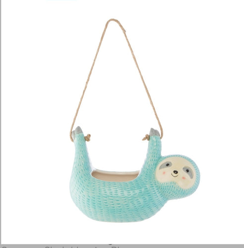Sass & Belle Seymour Sloth Plant Pot/Hanging planter