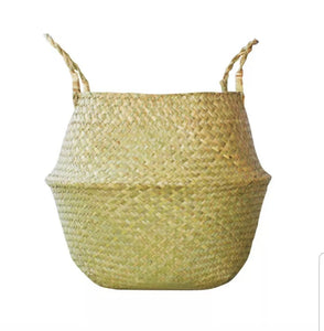 Medium Seagrass Belly Basket - Natural