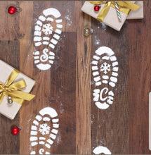 Load image into Gallery viewer, Santa Footprint Stencils - Christmas