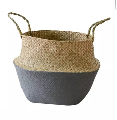 Large Seagrass Belly Basket - Grey