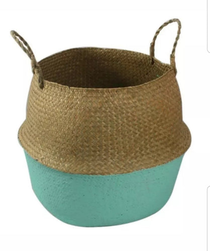 Small seagrass belly basket - Green