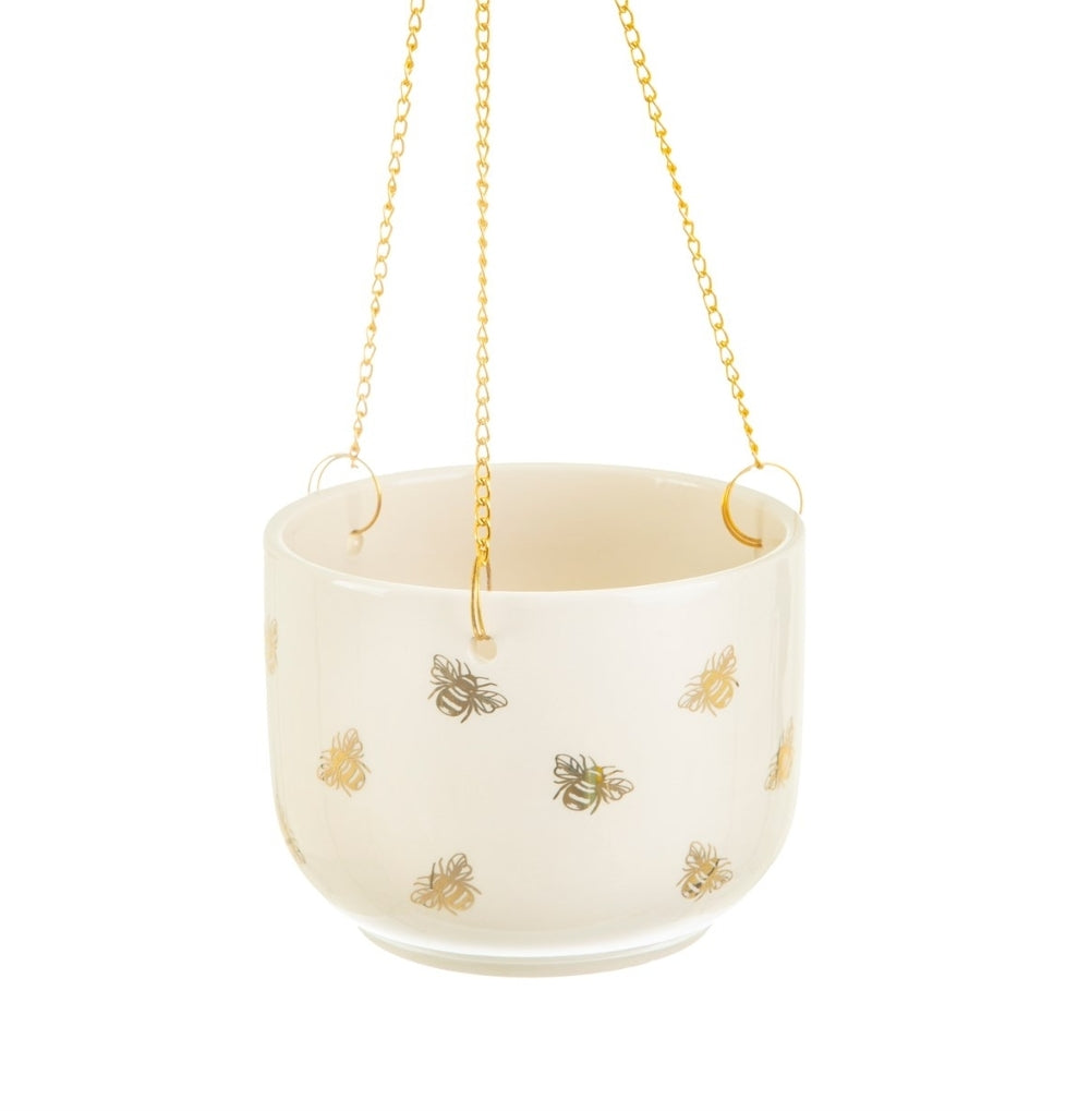 Sass and Belle Queen Bee Hanging Plant Pot