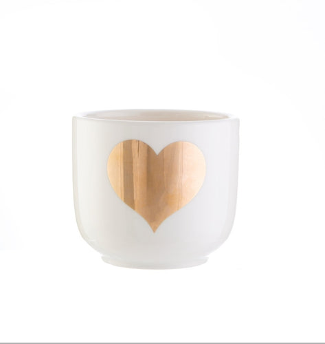 Sass and Belle Gold Heart Mini Planter Plant Pot