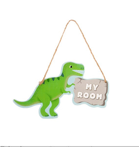 Sass and Belle Roarsome Dinosaur My Room Sign/Hanging Plaque
