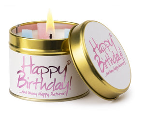 Lily-Flame Candle - Happy Birthday