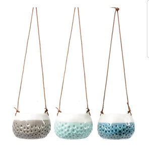 Burgon and Ball Baby Dotty Hanging Plant Pot