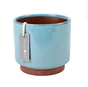 Burgon and Ball Malibu Glazed Blue Plant Pot - Extra Large