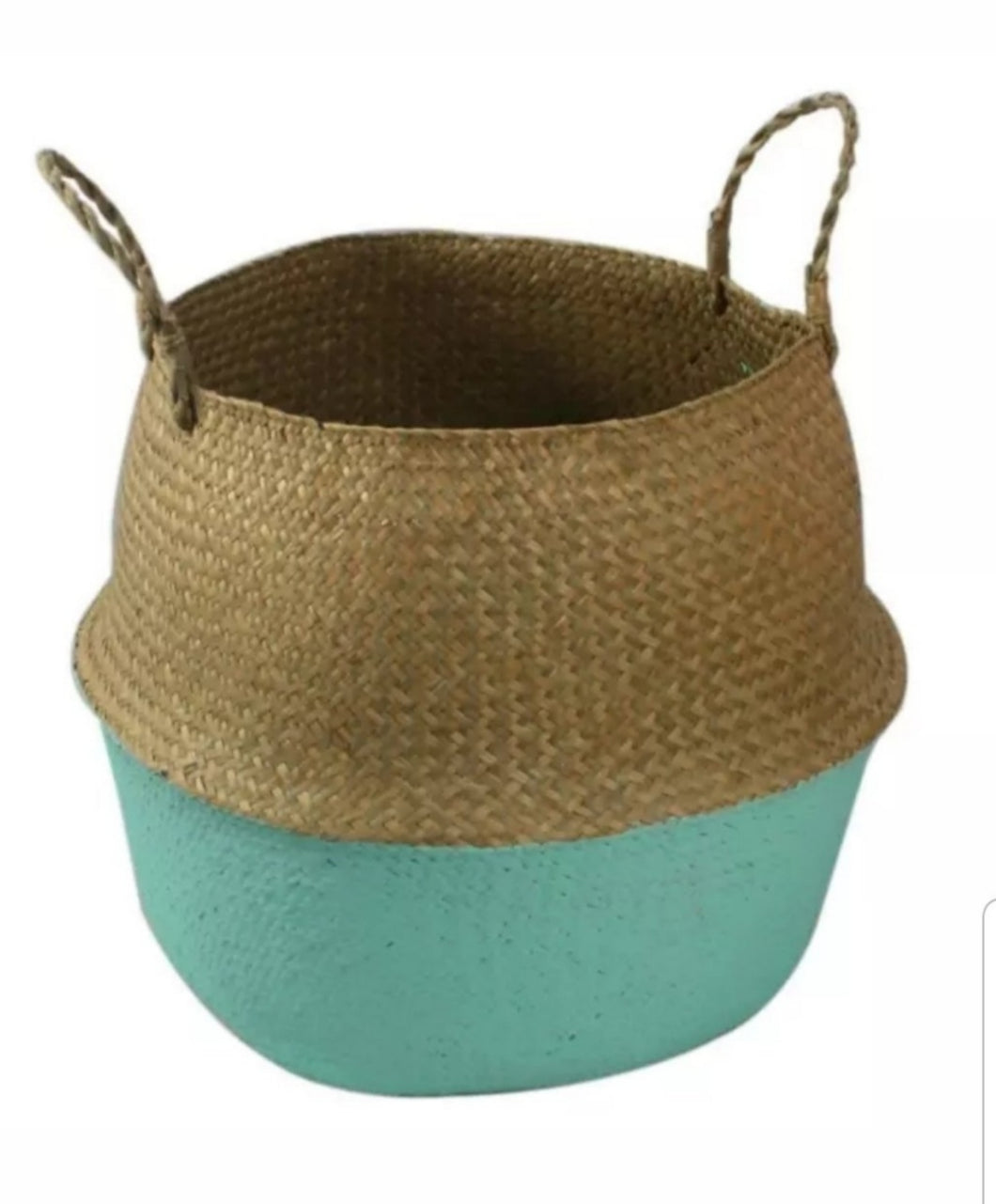 Large Seagrass Belly Basket - Green