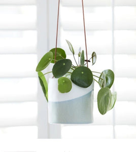 Burgon and Ball Blue Dip Hanging indoor planter/pot
