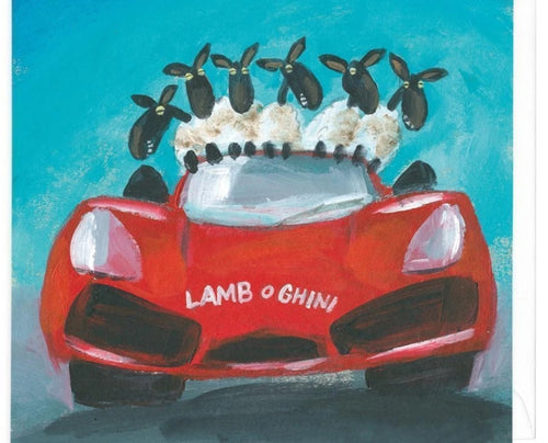 Lamb o Ghini card