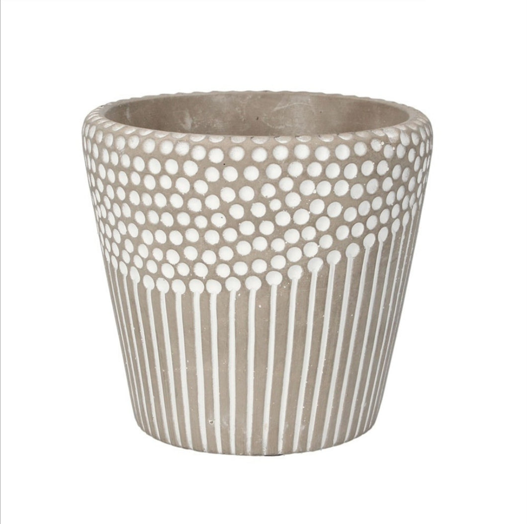 Gisela Graham Spots and Stripes indoor plant pot - small