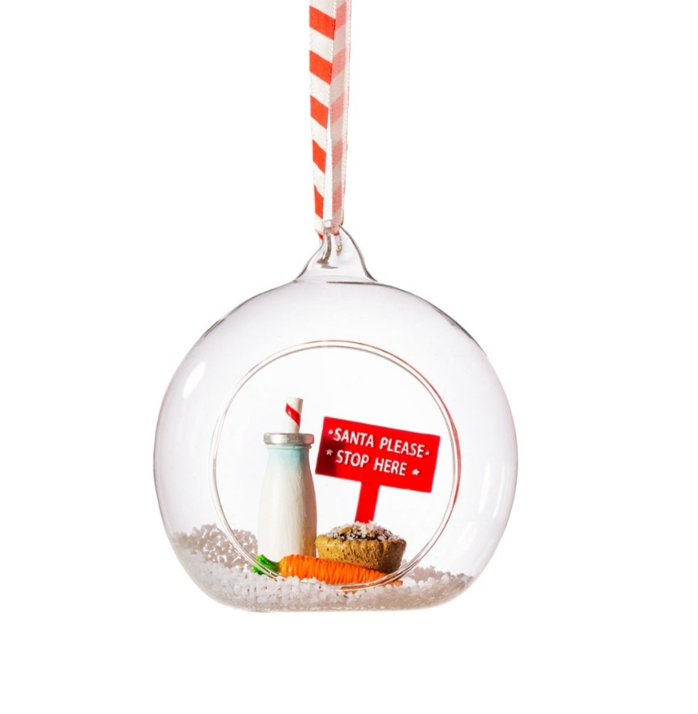 Sass and Belle Santa please stop here christmas bauble