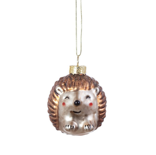 Sass and Belle Baby Hedgehog Christmas Bauble