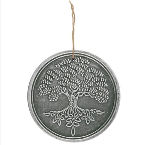 Tree of life terracotta plaque silver