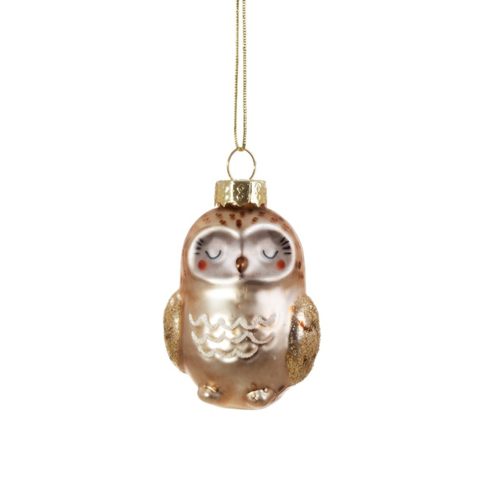 Sass and Belle baby owl shaped bauble