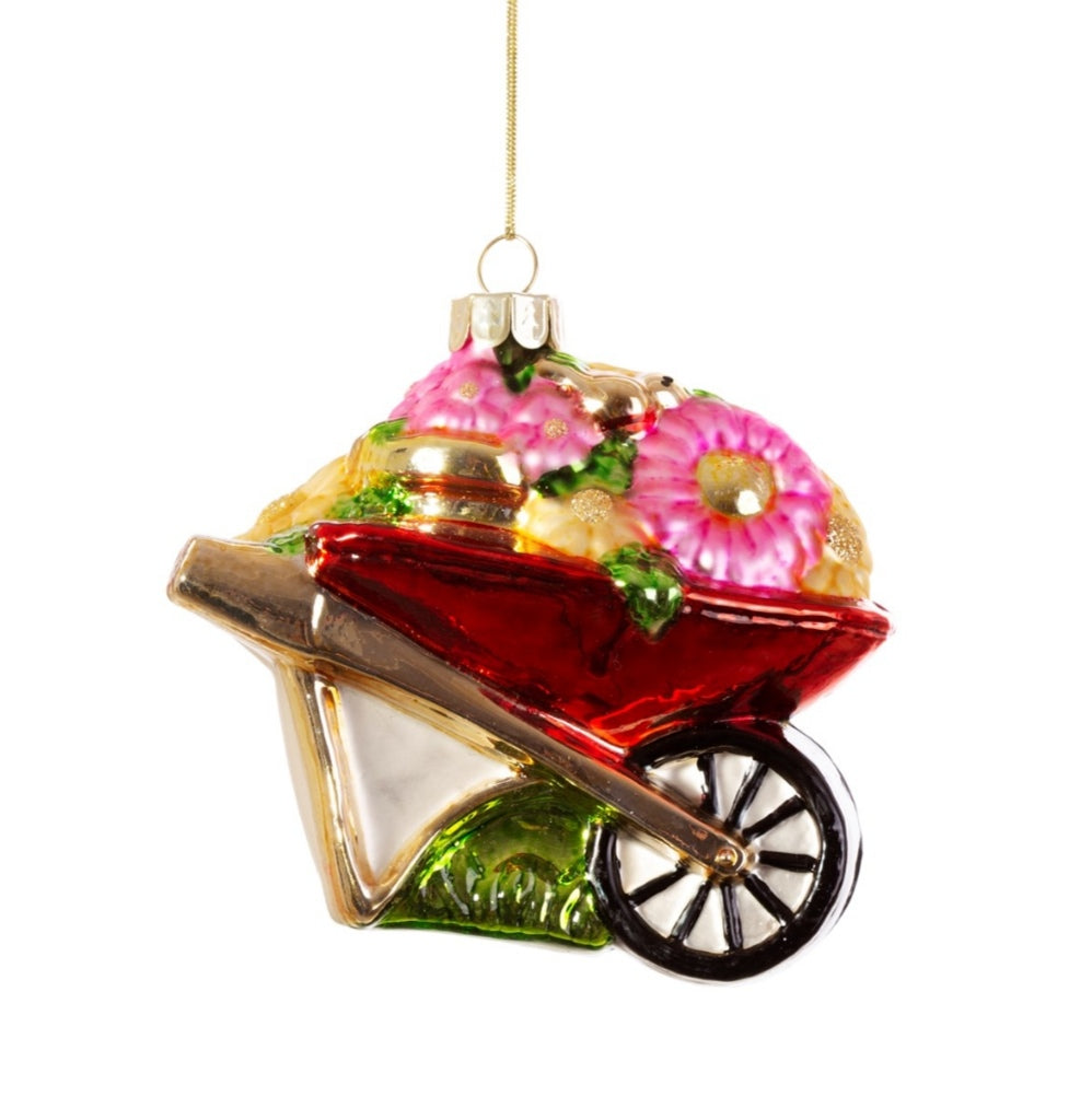 Sass and Belle Wheelbarrow shaped bauble