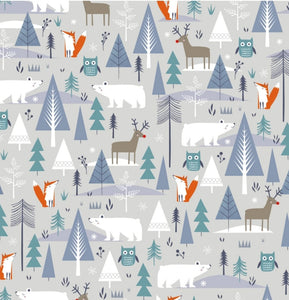 Fox and the Polar Bear Christmas wrapping paper and gift tags