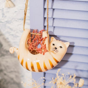 Sass and Belle Cat Hanging Planter/Indoor plant pot