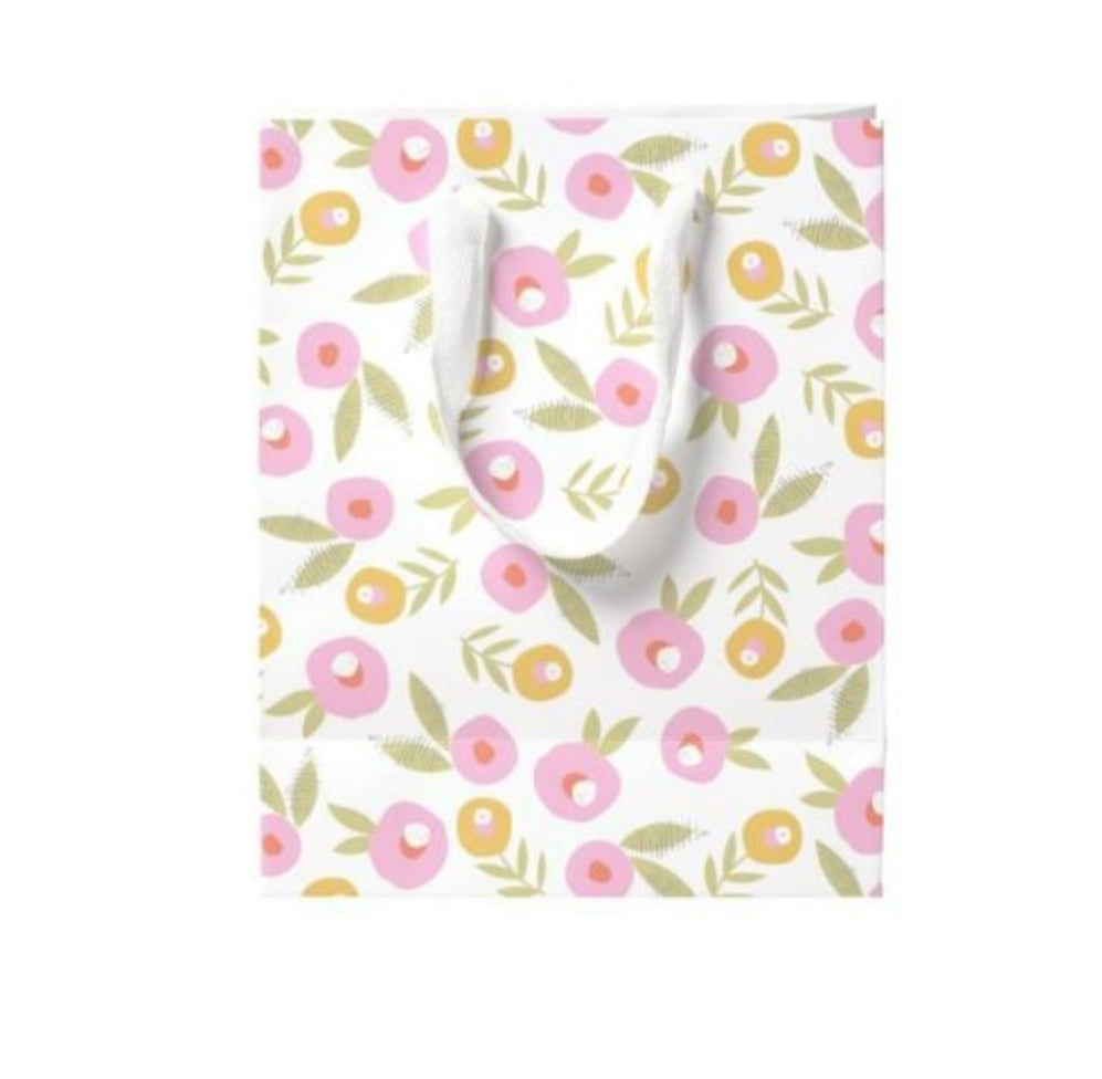 Pink Blossom small gift bag and card