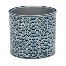 Load image into Gallery viewer, RHS interiors poppy blue indoor pot