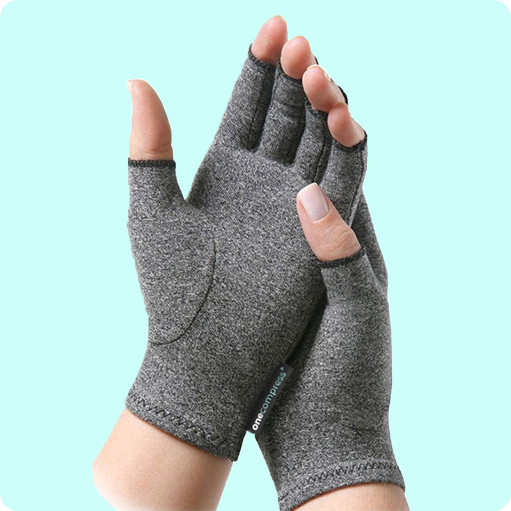 Fingerless Arthritis Compression Gloves, Sore Hand Copper Compression Glove, Breathable Carpal Tunnel Gaming Gloves, Comfortable Tendonitis Gloves For Painful Hands