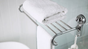 Our Stainless Steel Towel Rack provides a sophisticated storage space for towels