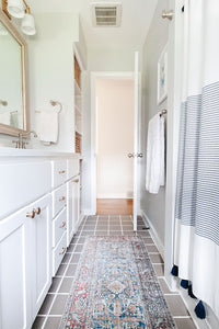 Our New Bathroom Rug & Hardware