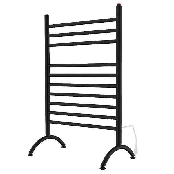 Never worry about a cold, wet towel again with the help of Kingston's matte black towel warmer (TWF3123MB) from their popular Templeton Collection
