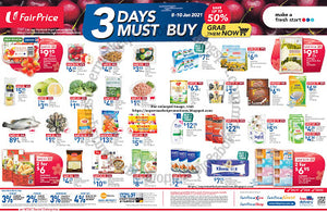 NTUC FairPrice 3 Days Must Buy Promotion 08 - 10 January 2021