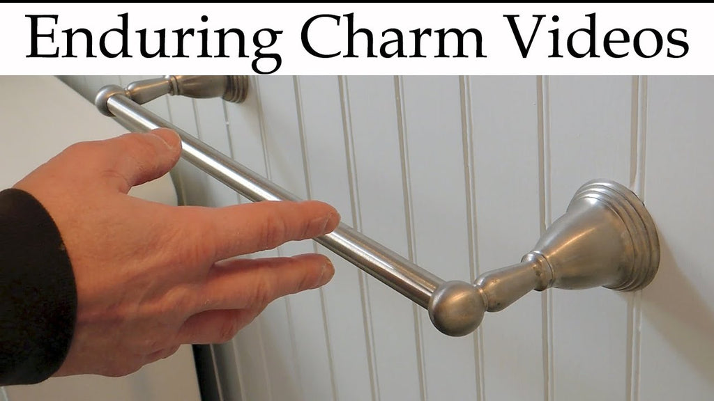A demonstration of how to tighten up loose towel bars or to remove them for painting or other needs