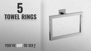 Top 10 Towel Rings [2018]: Modern Chrome Towel Ring Holder Wall Mounted Square Bathroom Accessory ...
