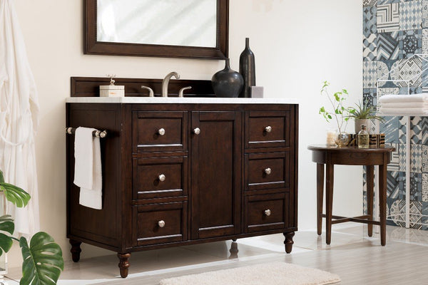"Copper Cove Encore 48"", James Martin Burnished Mahogany Bathroom Vanity"