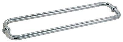"C.R. LAURENCE SDTB18X18PN CRL Polished Nickel 18"" Back-to-Back Towel Bars for Glass"
