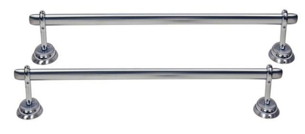 "Moen Calais Brushed Chrome/Chrome 2-Piece 18"" Towel Bar Set MA3"