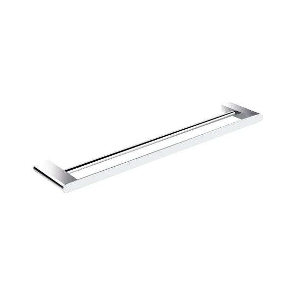 "Aqua Chiaro 24"", Kubebath, Chrome, Double Towel Bar"