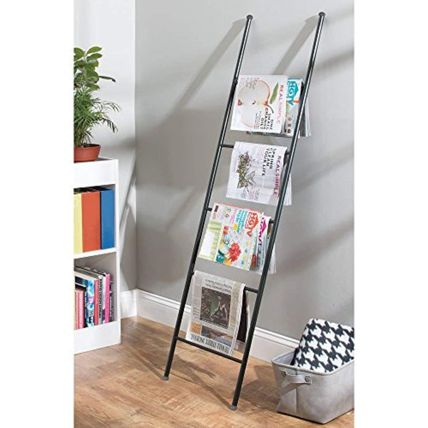 Black Free Standing Storage Ladder By mDesign