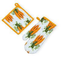 Celebrate the Home URB18246 Oven Mitt and Potholder Carrots