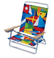 Classic 5 Position Lay Flat Folding Beach Chair : Sports & Outdoors