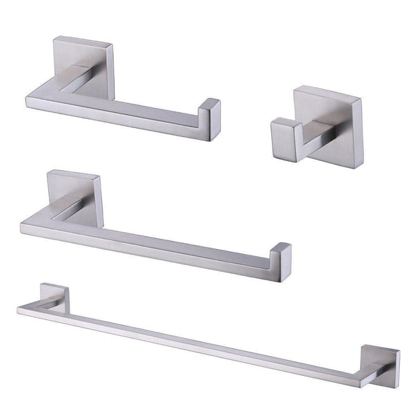 KES 4-Piece Bathroom Accessory Set RUSTPROOF Towel Bar Hook Toilet Paper Holder Towel Ring Wall Mount Brushed SUS 304 Stainless Steel, LA2252-42
