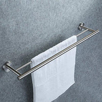 Kozanay Double Towel Bar Bathroom Shower Organization Bath Dual Towel Hanger Holder