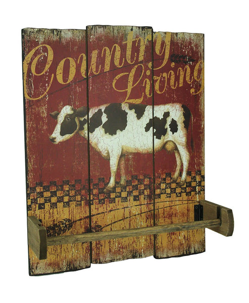 Country Living Vintage Farmhouse Hanging Paper Towel Holder