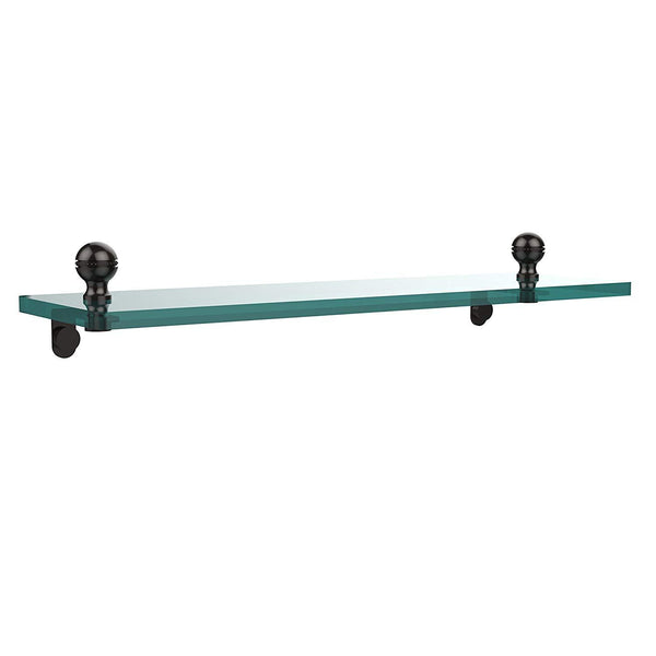 Allied Brass MA-1/16-ORB Mambo 16 Inch Glass Vanity Shelf with Beveled Edges Oil Rubbed Bronze