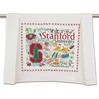 Catstudio Stanford University Collegiate Dish & Hand Towel | Beautiful Award Winning Home Decor Artwork | Great For Kitchen & Bathroom