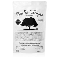Barba-Wipes | Super Soft Compressed Wipe | Compressed Towel | Expandable Towel | 100% Viscose | Biodegradable Eco-Friendly | Home Beauty Backpacking Camping Accessories | 250 Count Resealable Bag