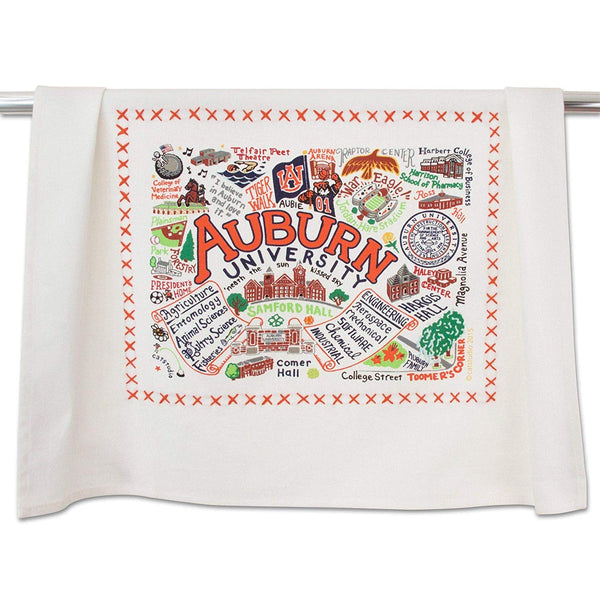Catstudio Auburn University Collegiate Dish & Hand Towel | Beautiful Award Winning Home Decor Artwork | Great For Kitchen & Bathroom