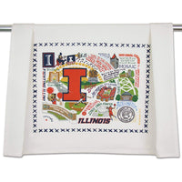 Catstudio University of Illinois Collegiate Dish & Hand Towel | Beautiful Award Winning Home Decor Artwork | Great For Kitchen & Bathroom
