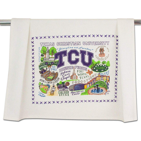 Catstudio | Texas Christian University Dish Towel, Tea Towel, Bar Towel or Hand Towel